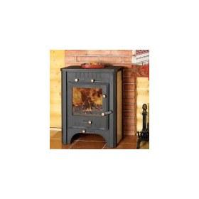 Печь-камин бавария чугунная с плитой и и теплообменником теплообменник ридан 7